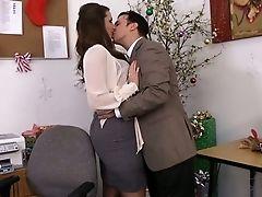 Babe, Blowjob, British, Brunette, Hardcore, MILF, Office, Paige Turnah, Pussy, Secretary,