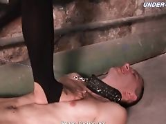 Ballbusting, Cop, Femdom, Fetish, Foot Fetish, High Heels, Nylon, Russian, Submissive,