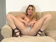 High Heels, Long Hair, Model, Nylon, Pantyhose, Solo, Tattoo, Teagan Presley,