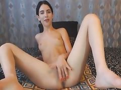 Babe, Brunette, Cute, Dildo, Fingering, Pretty, Pussy, Webcam,