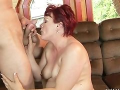 Blowjob, Cum In Mouth, Granny, Mature, Old And Young, Redhead, Rough, Short Haired,
