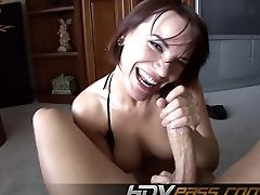 Big Cock, Brunette, Couple, Dana Dearmond, Handjob, Hardcore, POV,