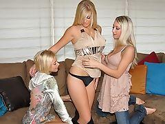 Babe, Blonde, Cute, Dildo, Gorgeous, Kendra Banx, Lesbian, Licking, Lingerie, Long Hair,
