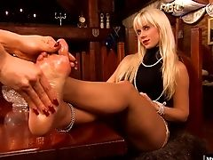 Blonde, Cindy Dollar, Feet, Fetish, Foot Fetish, Lesbian, Long Hair,