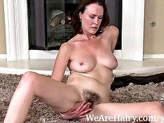 Hairy, Insertion, Masturbation, Mature, Sex Toys, Veronica Snow,