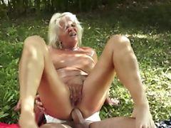 Anal Sex, Blonde, Blowjob, Cunt, Facial, Granny, Horny,