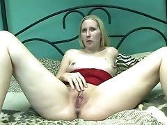 Blonde, Clit, Dildo, Horny, Masturbation, Nymphomaniac, Slut,
