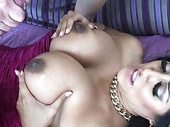 Big Tits, Blowjob, Brunette, Couple, Cum On Tits, Cumshot, Doggystyle, Fake Tits, Hardcore, Kiara Mia,