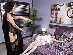 Babe, Bedroom, Big Tits, Cheating, Feet, Fetish, Foot Fetish, HD, High Heels, Latina,