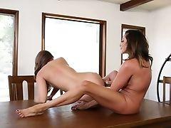 Ariella Ferrera, Ass, Big Tits, Boobless, Colombian, Kissing, Lesbian, Masturbation, MILF, Oral Sex,