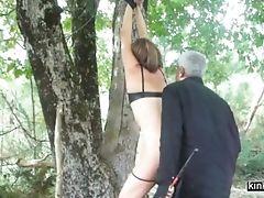BDSM, Couple, Fetish, Forest, French, Punishment, Spanking, Submissive,