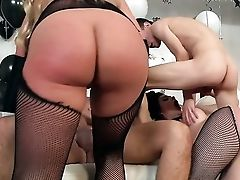 Anal Sex, Ass, Big Ass, Big Tits, Blonde, Brunette, Double Penetration, Group Sex, Horny, Kristina Rose,