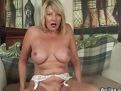Amy, Big Ass, Big Tits, Blonde, European, First Timer, High Heels, Masturbation, Mature, Stockings,