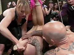 Ass Fucking, BDSM, Bound, Brandy Aniston, Double Penetration, Fisting, Squirting,