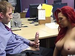 Big Cock, Big Tits, Blowjob, Desk, Handjob, Hardcore, Lingerie, Long Hair, Missionary, Nude,