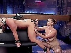 BDSM, Bella Rossi, Bondage, Close Up, Electrified, Fake Tits, Fetish, Fishnet, Game, HD,