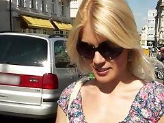 Amateur, Babe, Beauty, Blonde, Cute, European, Money, Outdoor, Pick Up, Public,