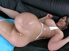 Anal Sex, Ass, Babe, Bella Reese, Brunette, Dick, From Behind, Hardcore, MILF, Oiled,