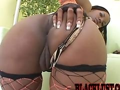 Ass, Black, Blowjob, Clamp, Couple, Doggystyle, Ebony Pussy, Fishnet, Hardcore, Missionary,