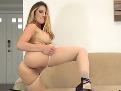 Big Tits, Bra, Fake Tits, Fingering, High Heels, Lingerie, Masturbation, Model, Nylon, Pantyhose,