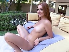 American, Ass, Farrah, Ginger, Green Eyes, Hardcore, Natural Tits, Reality, Redhead, Teasing,