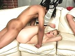 Big Black Cock, Blonde, Blowjob, Candy Monroe, Couch, Couple, Cuckold, Curly, Fucking, Husband,