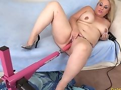 Amateur, BBW, Fucking Machine, Horny, Mature,