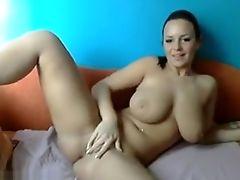 American, Big Tits, Brunette, Pretty, Striptease, Webcam,