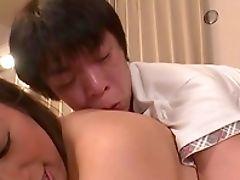 Ball Licking, Big Natural Tits, Big Tits, Blowjob, Chubby, Couple, Dick, Game, Hana Haruna, Handjob,