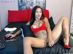 Adorable, Big Tits, Dick, Masturbation, Model, Sex Toys, Solo, Thai, Vibrator, Webcam,