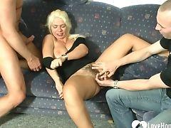 Beauty, Big Tits, Blonde, Cumshot, Fake Tits, Hardcore, High Heels, Mature, MILF, Mmf,