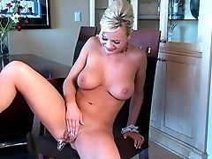 Babe, Big Tits, Blonde, Bree Olson, Dildo, Dirty, Dirty Talk, Maid, Masturbation, Trimmed,