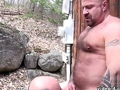 Bear, Blowjob, Daddies, Fat, Outdoor,