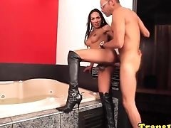 Ass Fucking, Boots, HD, Latina, Shemale, Tranny,