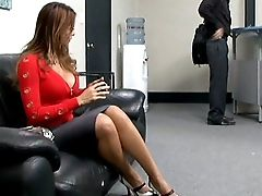 Blowjob, Boss, Clothed Sex, Cute, Gorgeous, Latina, Long Hair, Long Legs, MILF, Monique Fuentes,