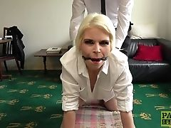 Ass, Balls, Blonde, Brutal, Clothed Sex, Couch, Domination, Fingering, From Behind, Gagging,