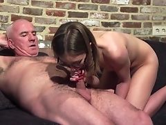 Beauty, Couple, Dick, Glasses, Grandpa, Hardcore, Old, Panties, Wet, Young,