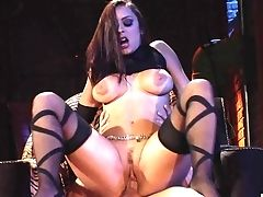 Ball Licking, Blowjob, Brunette, Cum In Mouth, Cumshot, Facial, HD, High Heels, Lingerie, Liza Del Sierra,