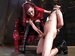 Ballbusting, Boots, Brazilian, Foot Fetish, Ginger, Mistress, Submissive, Teen,