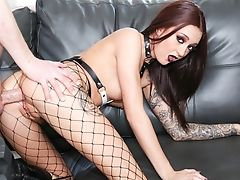 Anal Sex, Boobless, Fishnet, Forest, Goth, Natural Tits, Redhead, Skinny, Whore,