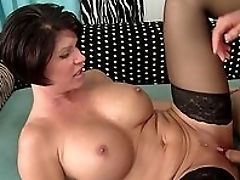 Big Tits, Brunette, Close Up, Cumshot, Doggystyle, Fake Tits, From Behind, HD, MILF, Oral Sex,