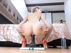High Heels, Huge Dildo, Masturbation, Model, Nylon, Pussy, Sex Toys, Solo, Stockings, Webcam,