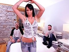 Anal Sex, Bedroom, Big Tits, Blowjob, Brunette, Doggystyle, Double Penetration, Mature, MILF, Mmf,