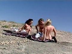Anna Malle, Big Tits, Biker, Cunnilingus, Exhibitionist, Felching, Lesbian, Long Legs, Nude, Outdoor,