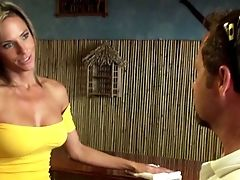 Ass, Bar, Blonde, From Behind, Jeans, MILF, Montana Skye, Skinny, Tanned, Waitress,