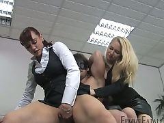 Bondage, Cowgirl, Femdom, HD, Mistress, Office, Oral Sex, Pussy, Riding, Rough,
