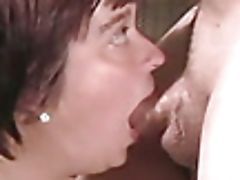 Blowjob, Cum In Mouth, Dick, Hairy, Mature, Short Haired, Slave,