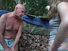 Babe, Captive, Doggystyle, FFM, Forest, Grandpa, Old, Outdoor, Teen, Threesome,