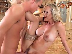 Big Tits, Blonde, Blowjob, Captive, Cumshot, Doggystyle, Facial, Fake Tits, Fucking, Hardcore,