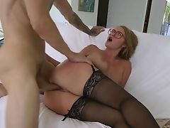 Ass, Big Cock, Blonde, Blowjob, Couch, Cumshot, Doggystyle, Fucking, Glasses, Hardcore,